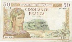 50 Francs CÉRÈS FRANCE  1936 F.17.22 TB+