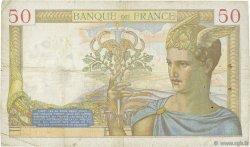 50 Francs CÉRÈS modifié FRANCE  1937 F.18.02 TB