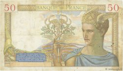 50 Francs CÉRÈS modifié FRANCE  1937 F.18.03 TB