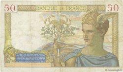 50 Francs CÉRÈS modifié FRANCE  1937 F.18.03 TB+
