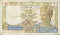 50 Francs CÉRÈS modifié FRANCE  1938 F.18.07 TB