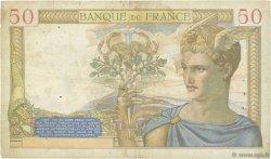 50 Francs CÉRÈS modifié FRANCE  1938 F.18.17 pr.TB