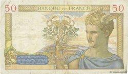 50 Francs CÉRÈS modifié FRANCE  1939 F.18.24 TB