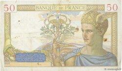 50 Francs CÉRÈS modifié FRANCE  1939 F.18.27 TB+