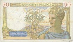 50 Francs CÉRÈS modifié FRANCE  1939 F.18.29 TTB