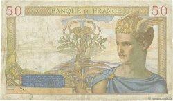 50 Francs CÉRÈS modifié FRANCE  1939 F.18.33 B