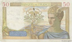 50 Francs CÉRÈS modifié FRANCE  1939 F.18.35 TB+
