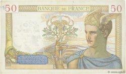 50 Francs CÉRÈS modifié FRANCE  1939 F.18.36 TTB