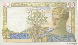 50 Francs CÉRÈS modifié FRANCE  1940 F.18.37 TTB