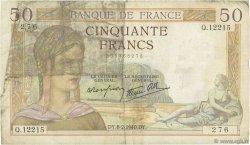 50 Francs CÉRÈS modifié FRANCE  1940 F.18.38 B+
