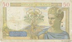 50 Francs CÉRÈS modifié FRANCE  1940 F.18.42 B+