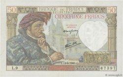 50 Francs JACQUES CŒUR FRANCE  1940 F.19.01 TTB+