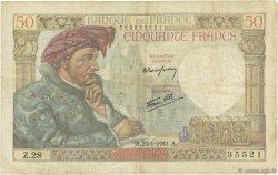 50 Francs JACQUES CŒUR FRANCE  1941 F.19.05 TB