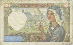50 Francs JACQUES CŒUR FRANCE  1941 F.19.06 TB