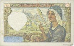 50 Francs JACQUES CŒUR FRANCE  1941 F.19.07 TTB
