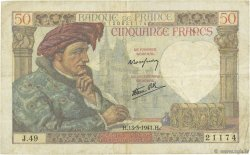 50 Francs JACQUES CŒUR FRANCE  1941 F.19.07 TB à TTB