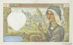 50 Francs JACQUES CŒUR FRANCE  1941 F.19.07 TTB+