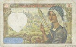 50 Francs JACQUES CŒUR FRANCE  1941 F.19.07 TB