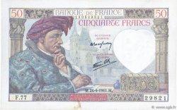 50 Francs JACQUES CŒUR FRANCE  1941 F.19.09 pr.SUP