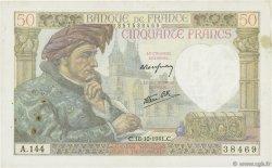 50 Francs JACQUES CŒUR FRANCE  1941 F.19.17 TTB+