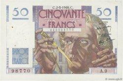50 Francs LE VERRIER FRANCE  1946 F.20.03 SUP