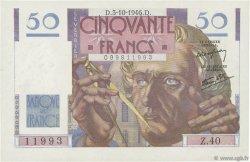 50 Francs LE VERRIER FRANCE  1946 F.20.06 pr.SPL