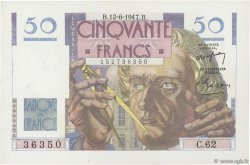 50 Francs LE VERRIER FRANCE  1947 F.20.08 pr.SPL