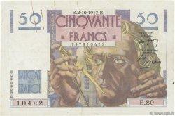50 Francs LE VERRIER FRANCE  1947 F.20.09 TTB