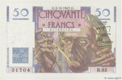 50 Francs LE VERRIER FRANCE  1947 F.20.09 SUP+