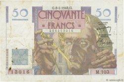 50 Francs LE VERRIER FRANCE  1948 F.20.10 TB+