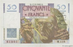 50 Francs LE VERRIER FRANCE  1949 F.20.11 SPL