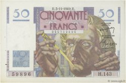 50 Francs LE VERRIER FRANCE  1949 F.20.13 SUP+