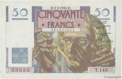 50 Francs LE VERRIER FRANCE  1950 F.20.14 TTB+