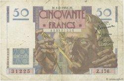 50 Francs LE VERRIER FRANCE  1951 F.20.17 TB