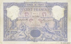 100 Francs BLEU ET ROSE FRANCE  1905 F.21.19 TB