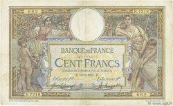 100 Francs LUC OLIVIER MERSON sans LOM FRANCE  1921 F.23.14 TB