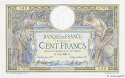 100 Francs LUC OLIVIER MERSON sans LOM FRANCE  1921 F.23.14 pr.SUP