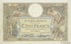 100 Francs LUC OLIVIER MERSON grands cartouches FRANCE  1925 F.24.03 TB+