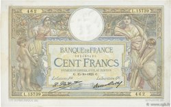 100 Francs LUC OLIVIER MERSON grands cartouches FRANCE  1926 F.24.05 TTB