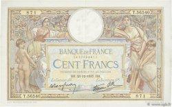 100 Francs LUC OLIVIER MERSON type modifié FRANCE  1937 F.25.06 pr.SUP