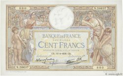 100 Francs LUC OLIVIER MERSON type modifié FRANCE  1938 F.25.15 SUP
