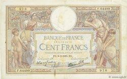 100 Francs LUC OLIVIER MERSON type modifié FRANCE  1939 F.25.42 pr.TTB