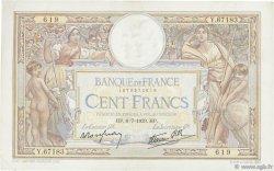 100 Francs LUC OLIVIER MERSON type modifié FRANCE  1939 F.25.48 SUP