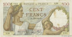 100 Francs SULLY FRANCE  1939 F.26.01 TTB