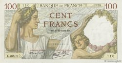 100 Francs SULLY FRANCE  1939 F.26.13 TTB