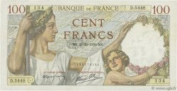 100 Francs SULLY FRANCE  1939 F.26.18 TTB