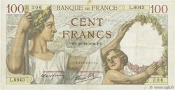 100 Francs SULLY FRANCE  1939 F.26.19 TTB+