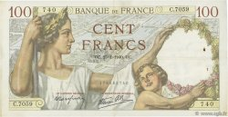 100 Francs SULLY FRANCE  1940 F.26.21 TTB