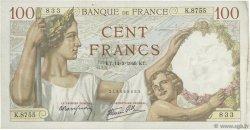100 Francs SULLY FRANCE  1940 F.26.25 TTB