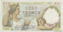 100 Francs SULLY FRANCE  1940 F.26.26 SUP
